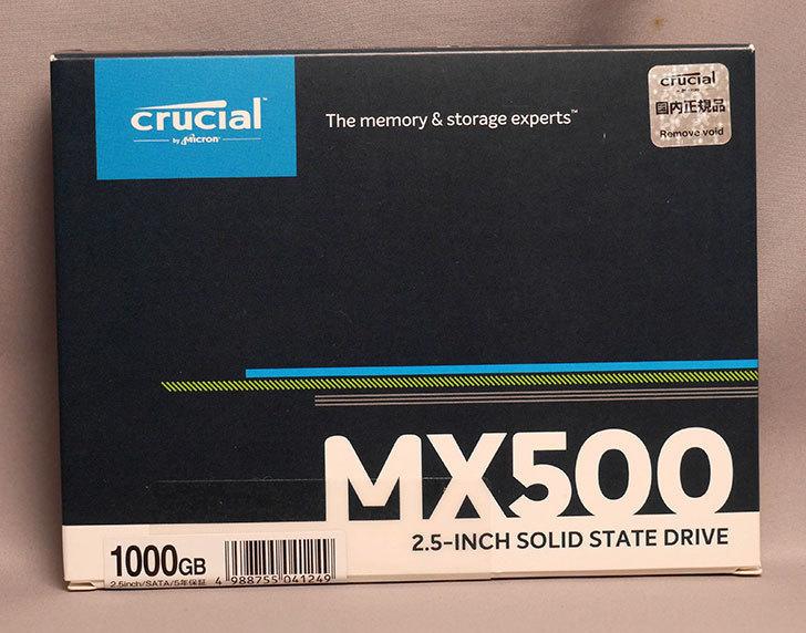 Crucial SSD 1000GB MX500 CT1000MX500SSD1_JPを買った001.jpg