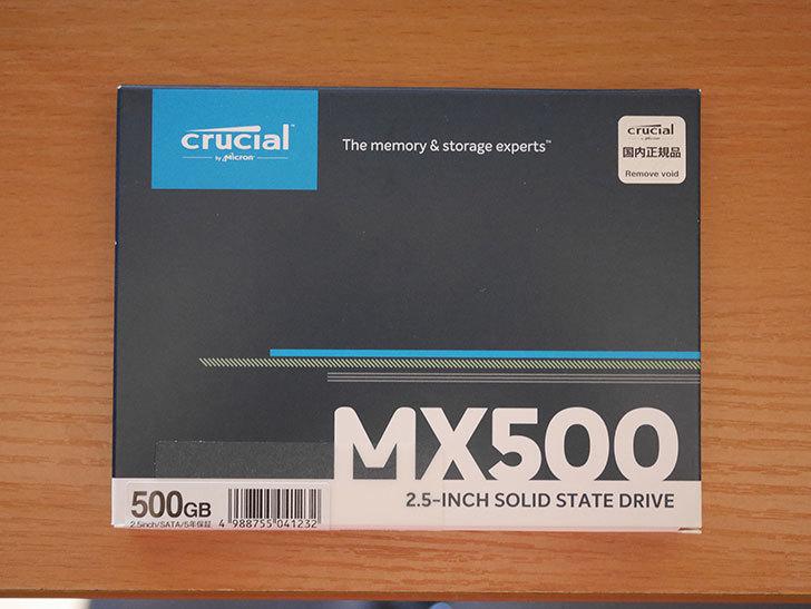 Crucial SSD 500GB MX500 CT500MX500SSD1JPを買った。2020年-001.jpg