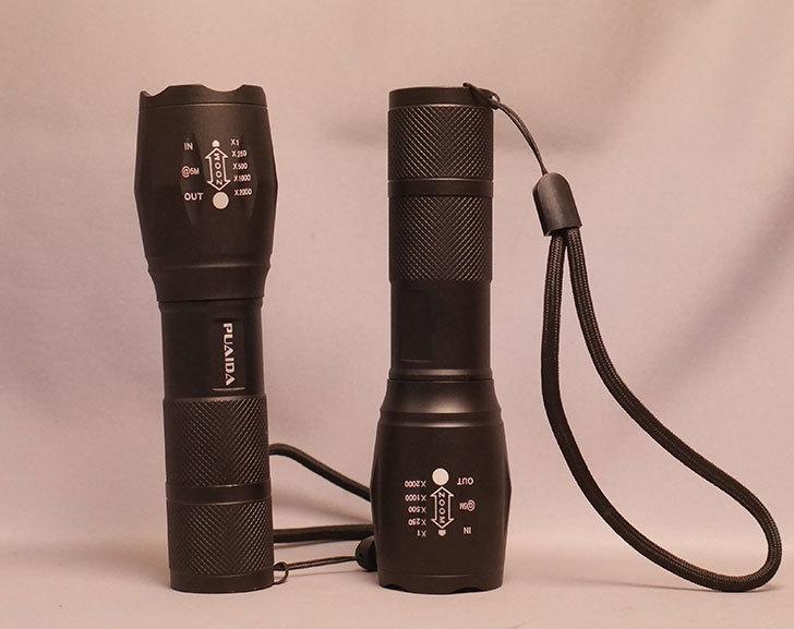 CyberMonday-セールでPUAIDA-LED懐中電灯-1200ルーメン-小型-2個セットを買った1.jpg