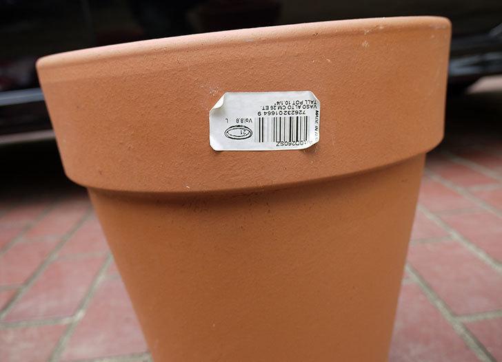 DEROMA-トールポット(0D-vaso-alto)-26cm-(8号)をケイヨーデイツーで買って来た3.jpg