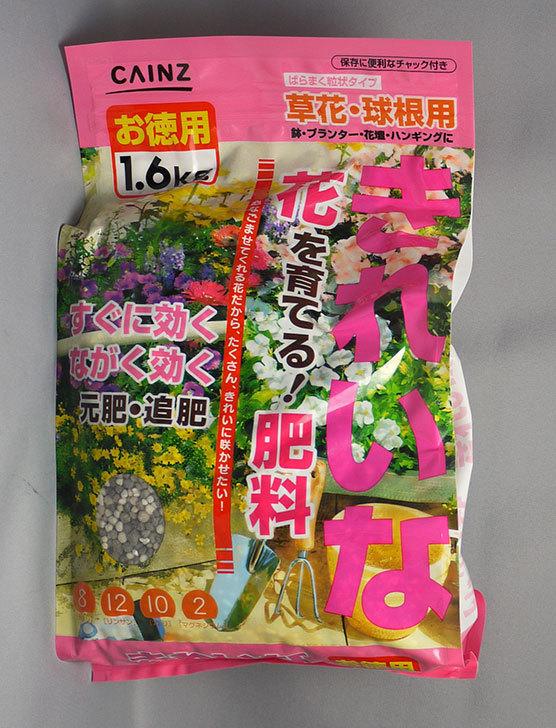 きれいな花を育てる!肥料-お徳用1.6kgをカインズで買ってきた1.jpg