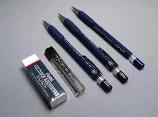ぺんてる シャープペンシル 1.3mm マークシートシャープセット AM13STHB 2-2.jpg