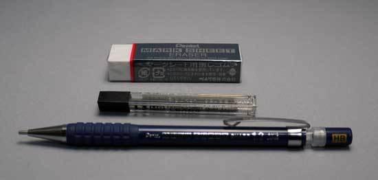 ぺんてる シャープペンシル 1.3mm マークシートシャープセット AM13STHB 2.jpg