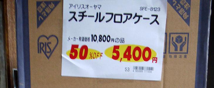 アイリスオーヤマ-スチールフロアケース-SFE-8123をホームズで買って来た3.jpg