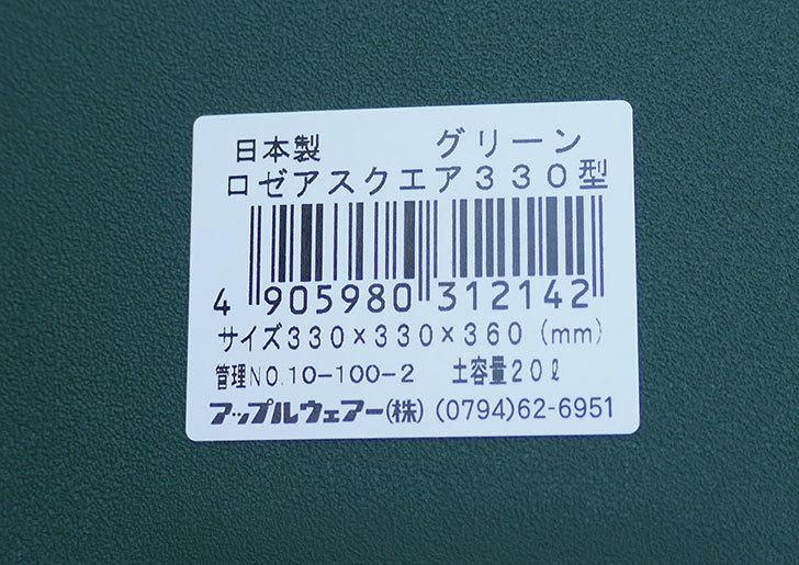 アップルウェアー-ロゼアスクエア-330型-グリーンを10個買った4.jpg