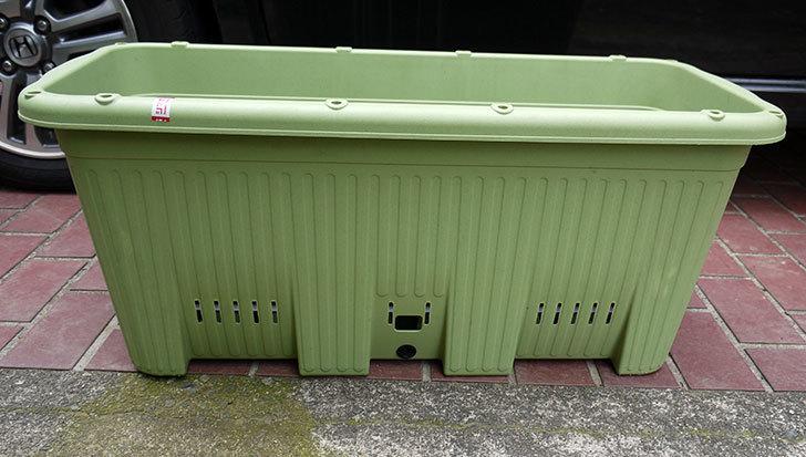 アップルウェアー-楽々菜園-深型-750-支柱用フレーム付-サラダグリーン買って来た1.jpg