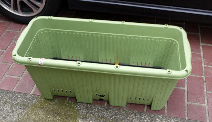 アップルウェアー-楽々菜園-深型-750-支柱用フレーム付-サラダグリーン買って来た2.jpg