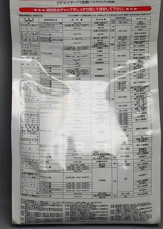 アドマイヤー-1粒剤-950gを買った2.jpg