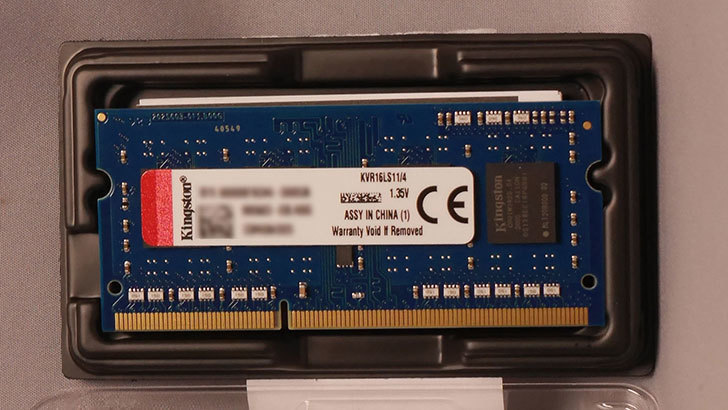 キングストン Kingston KVR16LS11_4 DDR3L 1600 (PC3L-12800) 4GBを買った003.jpg