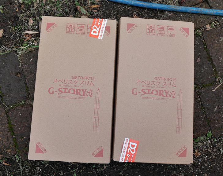 タカショー-GSTR-RC15-G-story-オベリスクスリムを2個ケイヨーデイツーで買って来た1.jpg