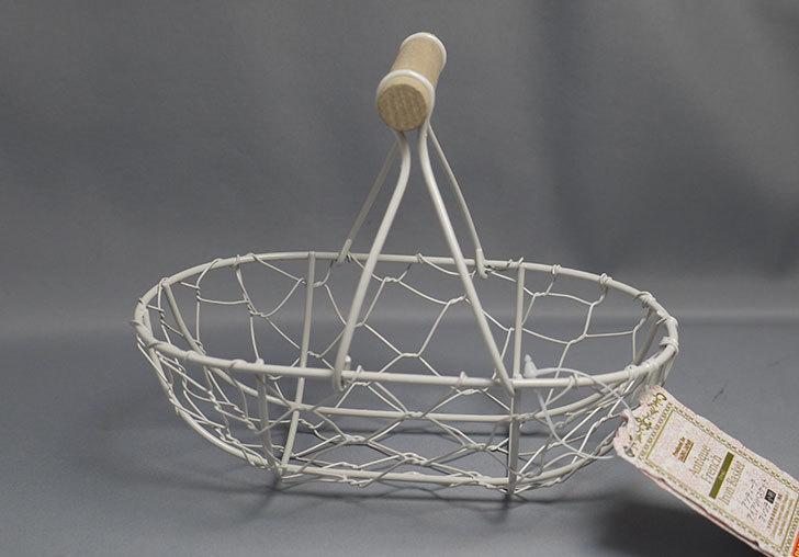 ダイソーでアンティークアイアンバスケットフレンチ小判を買ってきた1.jpg