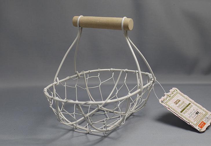 ダイソーでアンティークアイアンバスケットフレンチ小判を買ってきた2.jpg