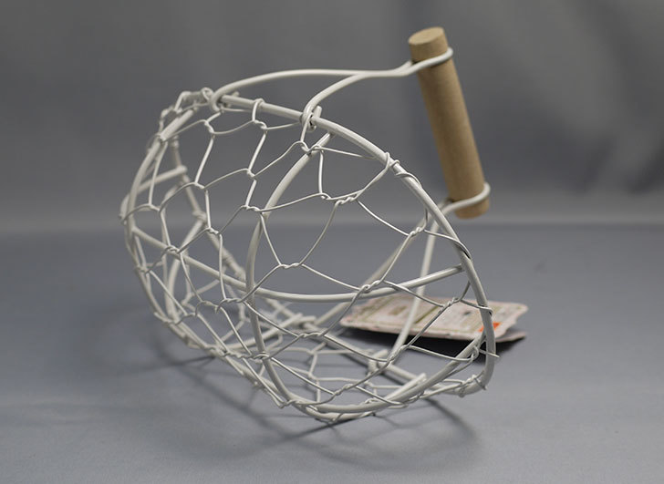 ダイソーでアンティークアイアンバスケットフレンチ小判を買ってきた3.jpg