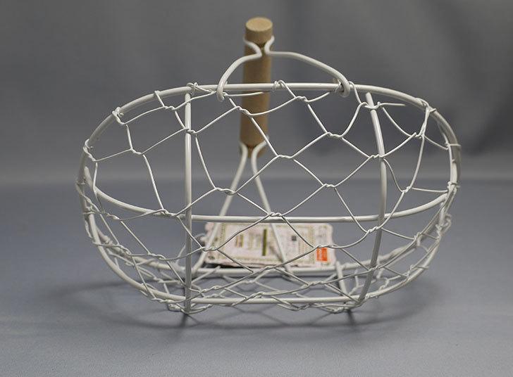 ダイソーでアンティークアイアンバスケットフレンチ小判を買ってきた4.jpg