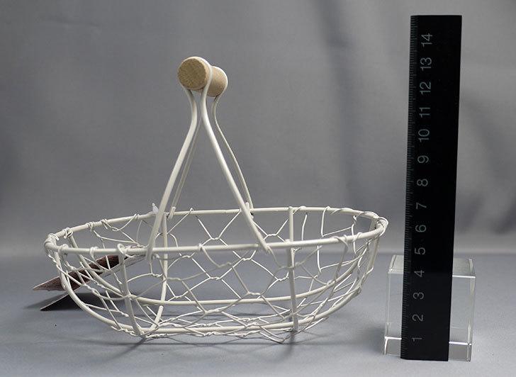 ダイソーでアンティークアイアンバスケットフレンチ小判を買ってきた5.jpg