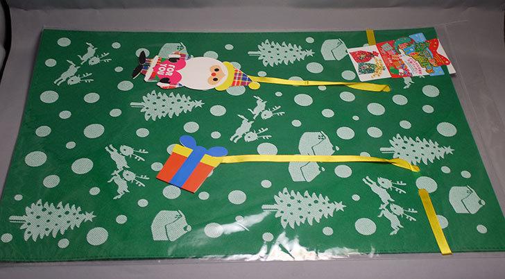 ダイソーでクリスマス不織布巾着バッグLL-G-039を買って来た3.jpg