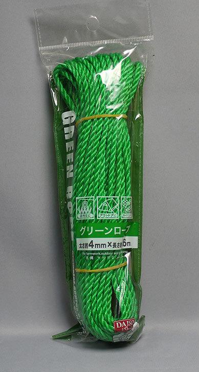 ダイソーでグリーンロープを買って来た1.jpg