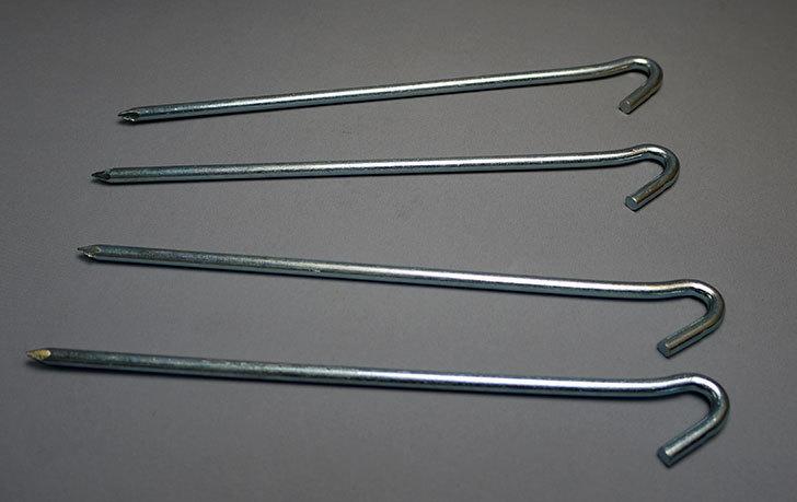 ダイソーでスチール製-丸軸-杭-フックタイプ-約19cm-4本入りを5個買って来た5.jpg