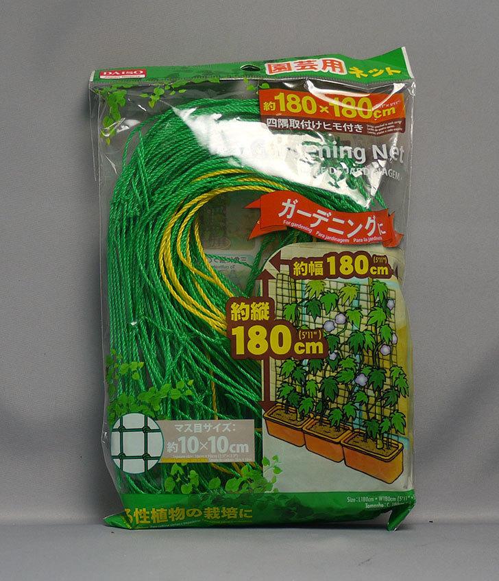 ダイソーで園芸用ネット-約180×180cmを買って来た。2016年-1.jpg