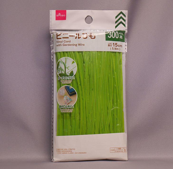 ダイソーで園芸用ワイヤー入りビニールひも-15cm×300本を買って来た。2019年-1.jpg