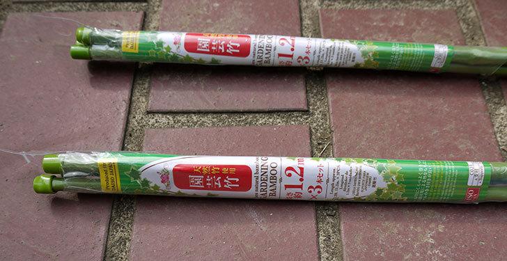 ダイソーで天然竹使用園芸竹-1.2m×3本セットを買って来た1.jpg