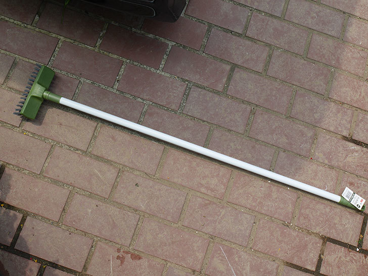 ダイソーで家庭用カラーデッキブラシ 約98cmを買って来た-001.jpg