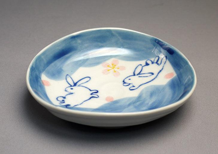ダイソーで有田の風-ぴょんうさぎ-楕円小皿を買ってきた1.jpg
