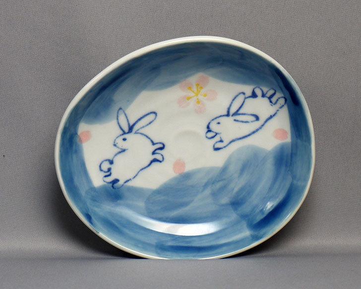 ダイソーで有田の風-ぴょんうさぎ-楕円小皿を買ってきた3.jpg