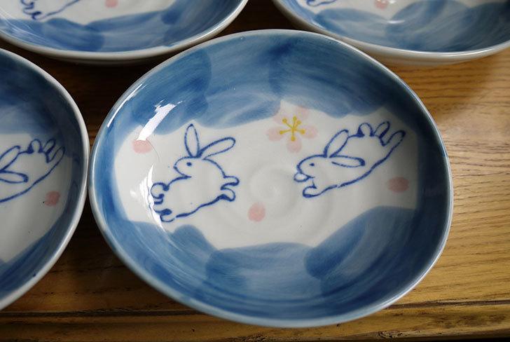 ダイソーで有田の風-ぴょんうさぎ-楕円小皿を追加で9枚買ってきた2.jpg