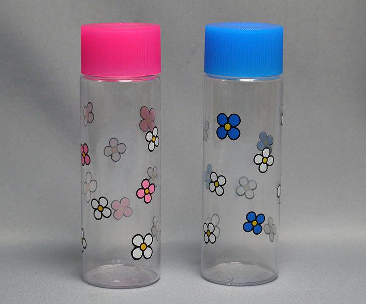 ダイソーで花柄詰替ボトル-Lサイズ2個入50mlを買ってきた1.jpg