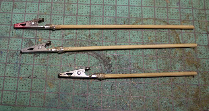ダイソーで買って来たワニ口クリップで塗装用持ち手を192本作った25.jpg