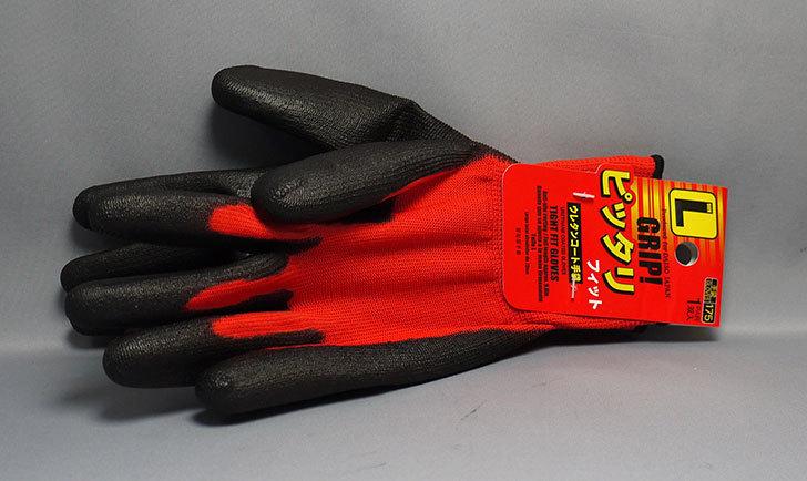 ダイソーでGRIP!-ピッタリフィット-ウレタンコート手袋-Lを買って来た2.jpg