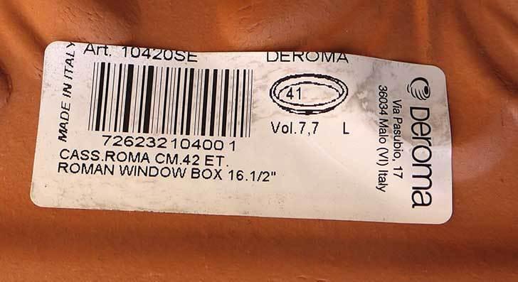 デローマ-ローマンウィンドウボックス(DEROMA-CASS.ROMA-Art.10420SE)42cmをケイヨーデイツーで買って来た8.jpg