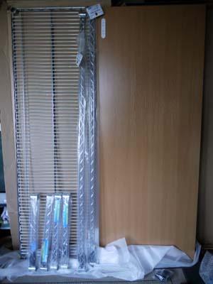 ニトリの机(VOX2 150-LBR)とメタルラックパーツ.jpg