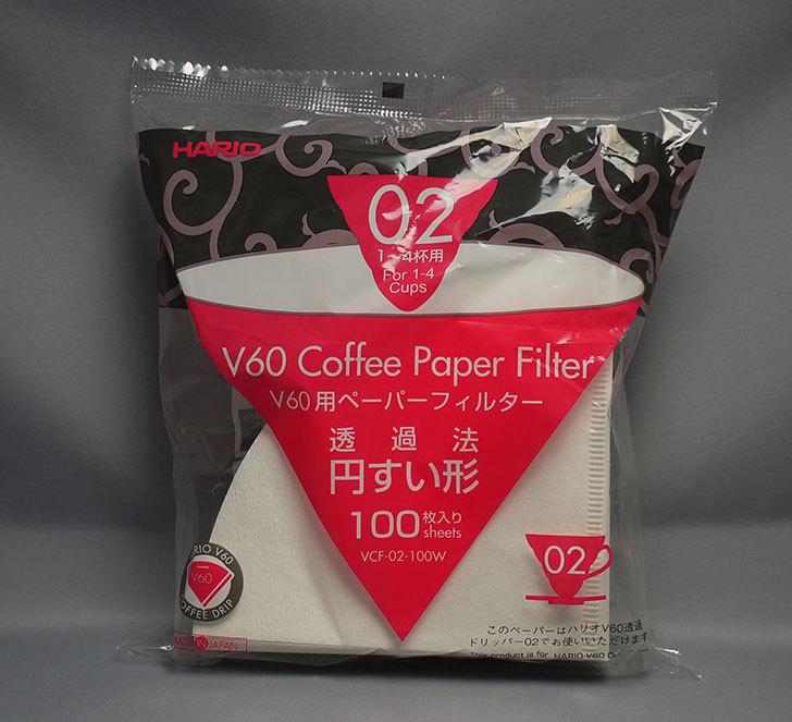 ハリオ-V60用ペーパーフィルター-02W-VCF-02-100Wを買った1.jpg