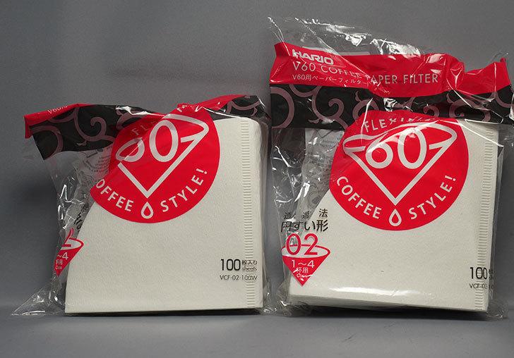 ハリオ-V60用ペーパーフィルター-VCF-02-100Wを2個買った1.jpg
