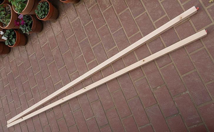 バラの誘引に使う角材赤松30×40mm-1.8m 2本をケイヨーデイツーで買って来た1.jpg