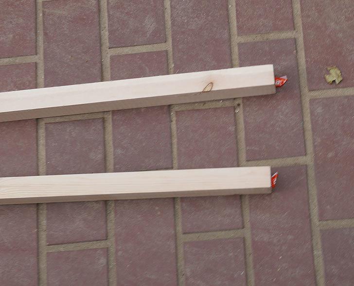 バラの誘引に使う角材赤松30×40mm-1.8m 2本をケイヨーデイツーで買って来た2.jpg