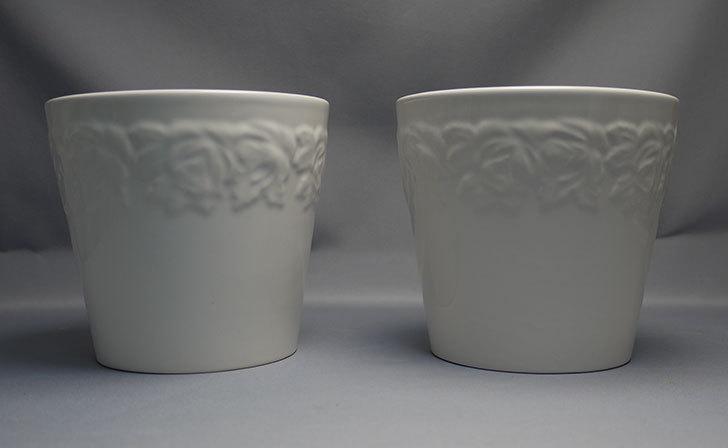 フラワーレリーフ植木鉢-花盆-陶器植木鉢L174を2個買って来た1.jpg