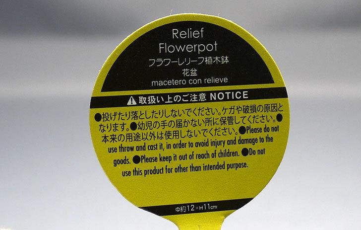 フラワーレリーフ植木鉢-花盆-陶器植木鉢L174を2個買って来た5.jpg