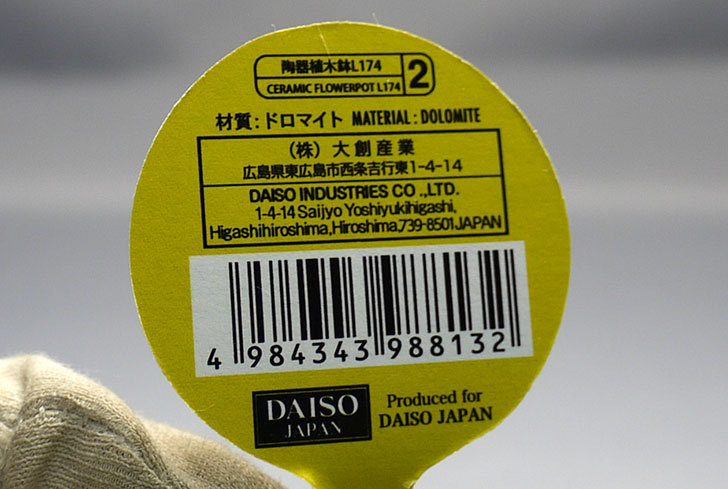 フラワーレリーフ植木鉢-花盆-陶器植木鉢L174を2個買って来た6.jpg