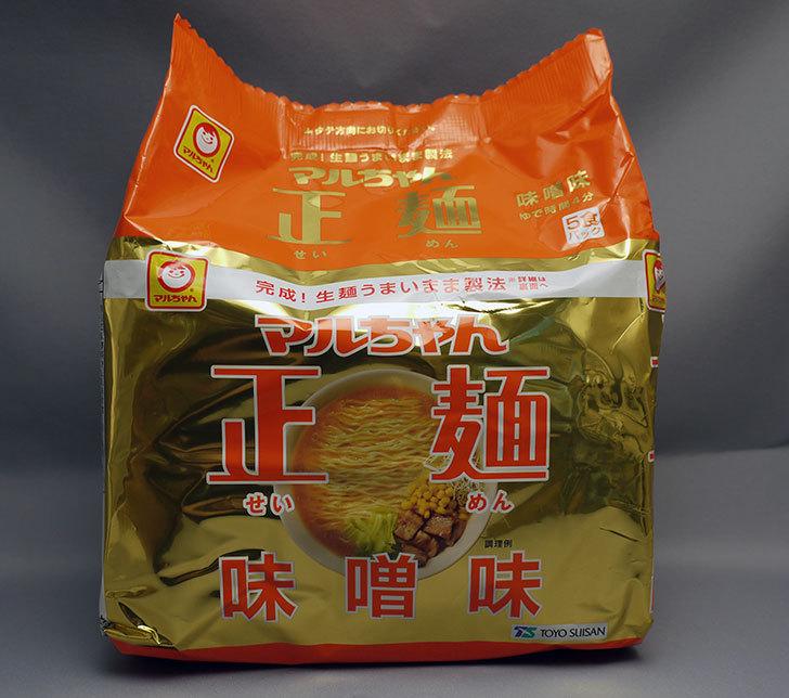 マルちゃん正麺 味噌味 5食パックが298円で売っていたので買ってみた1.jpg