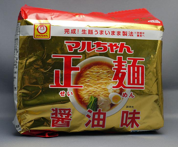 マルちゃん正麺 醤油味 5食パックが275円で売っていたので買って来た1.jpg