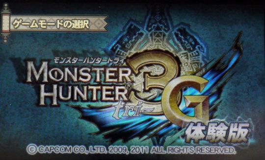 モンスターハンター3Gの体験版5.jpg