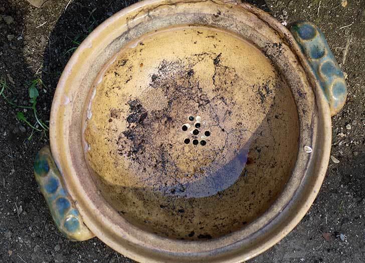 ユニカ-充電磁器タイル用ドリルビットTJタイプ-TJ-6.0×100で植木鉢に穴を空けた7.jpg