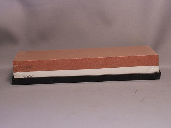 両面砥石包丁研ぎ ステンレス・鋼両用 ゴム台付き 日本語説明書付き レッドを買った-004.jpg