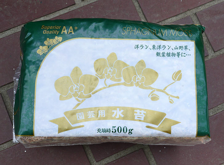 園芸用-水苔-500gをカインズで買ってきた1.jpg