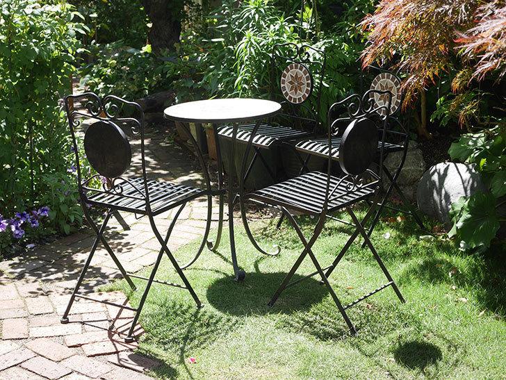 山善 ガーデンマスター モザイクチェア2脚組 HMC-87を買った-015.jpg