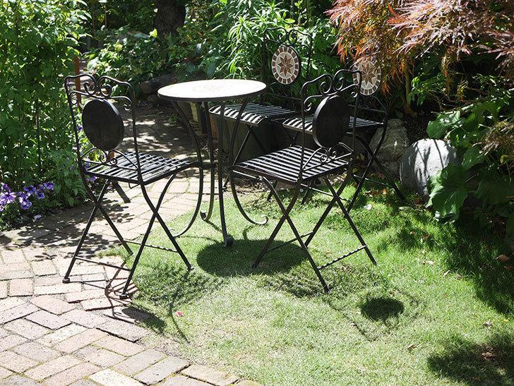 山善 ガーデンマスター モザイクチェア2脚組 HMC-87を買った-017.jpg
