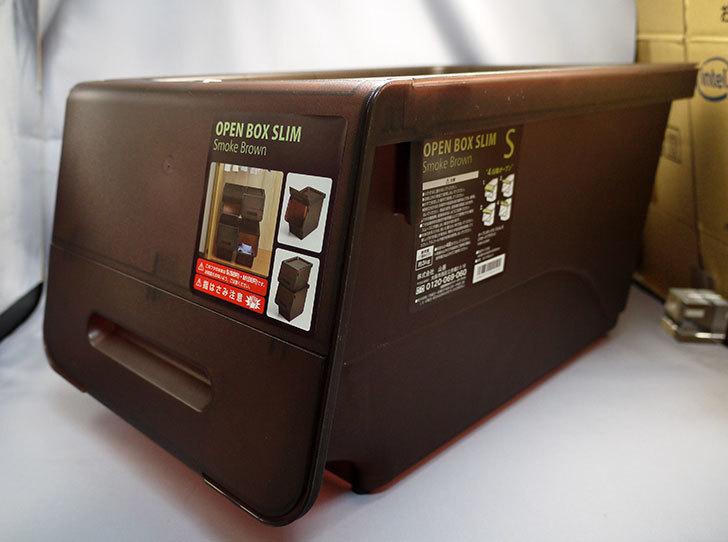 山善(YAMAZEN)-オープンボックス-スリムS-スモークブラウンをホームズで買ってきた1.jpg